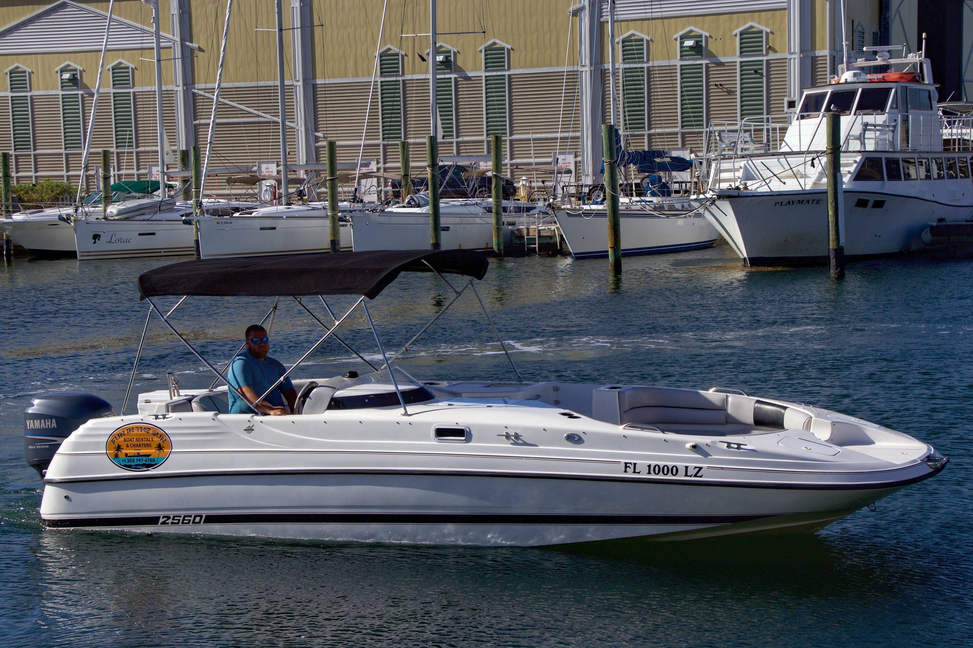 26ft Century deck boat, powered by a 225hp Yamaha four stroke